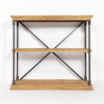 Etagère bois et métal
