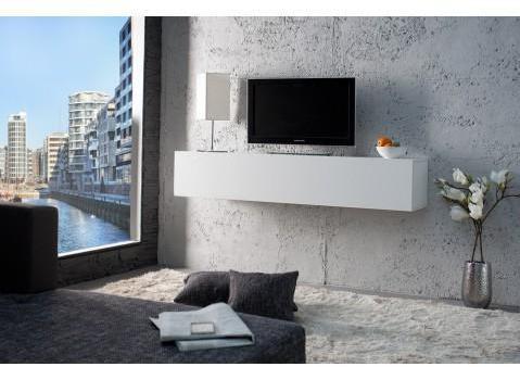 tagère murale TV design blanche