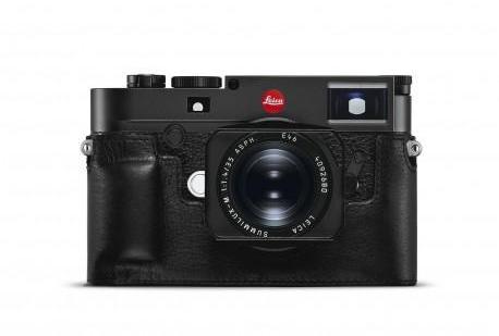 Leica protection cuir noir