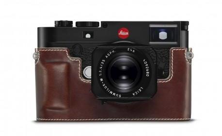 Leica protection cuir marron