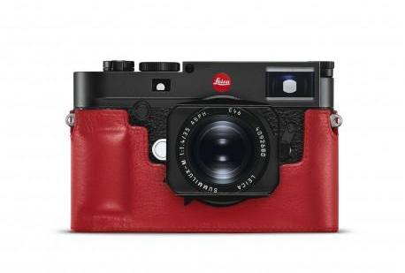 Leica protection cuir rouge