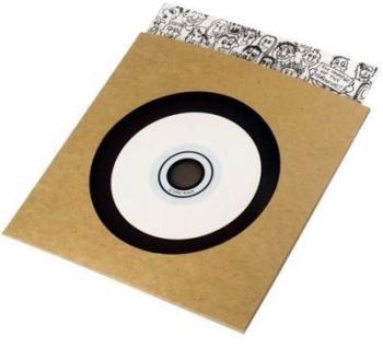 Pochette CD carton kraft avec