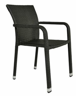 Chaise en résine tressée plate