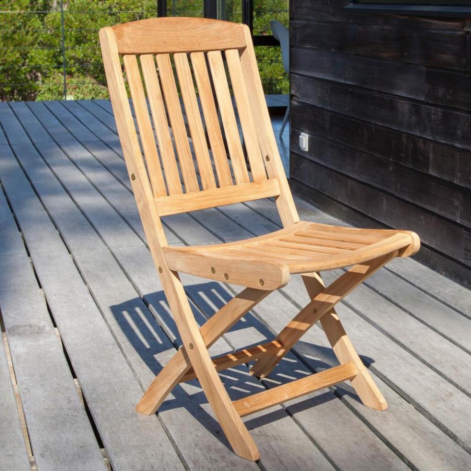 Catgorie fauteuil de jardin page 4 du guide et comparateur for Chaise en teck pliante