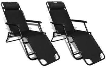 vidaxl fauteuil bascule r glable noir. Black Bedroom Furniture Sets. Home Design Ideas
