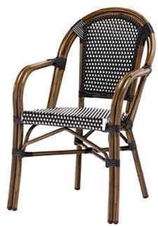 SOLDES Fauteuil bistrot LUCA