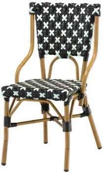 Chaise bistrot BRIC en polyrotin
