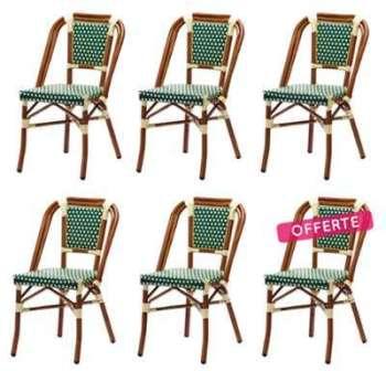Lot de 6 chaises DAVE en polyrotin
