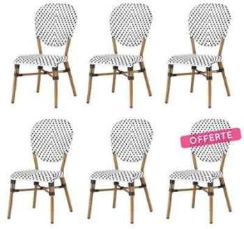 Lot de 6 chaises CLAR en polyrotin