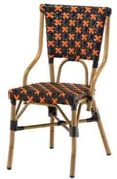 Chaise bistrot FLOR en polyrotin