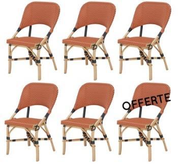Lot de 6 chaises JERY en résine
