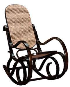 Rocking-chair canné FRANKLIN