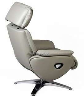 Fauteuil relax flap cuir gris