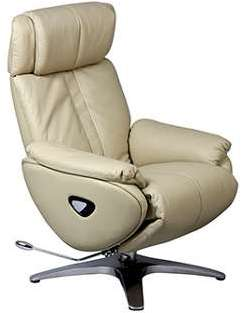 Fauteuil relax flap cuir sable
