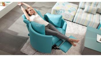 MOON Fauteuil Cuir Relaxation