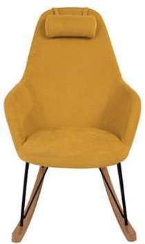 Rocking chair en tissu métal