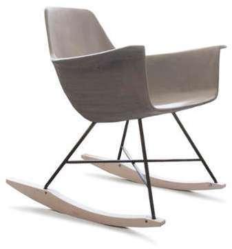Rocking Chair béton et bois