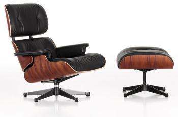 VITRA fauteuil cuir noir LOUNGE