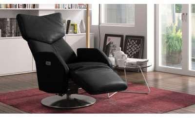 Fauteuil cuir relax électrique