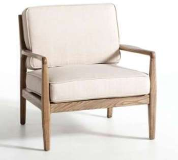 Fauteuil toile lin Dilma -