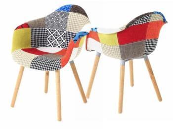 2x Fauteuil design multicolore