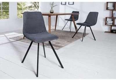 Chaise design en métal velours