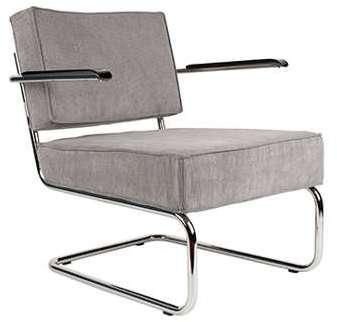 Fauteuil lounge - gris