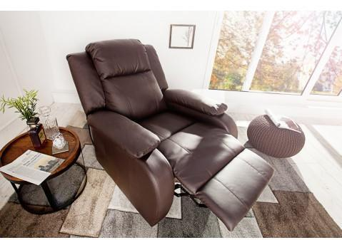 Fauteuil relaxation marron