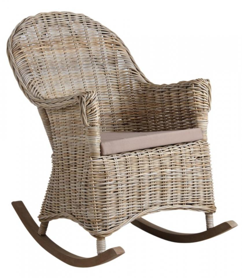 Rocking chair en poelet gris