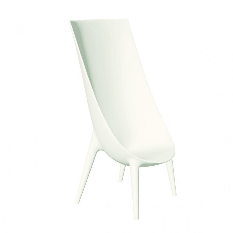 Out In High Easy Chair - blanc
