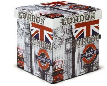Pouf coffre imprimé London
