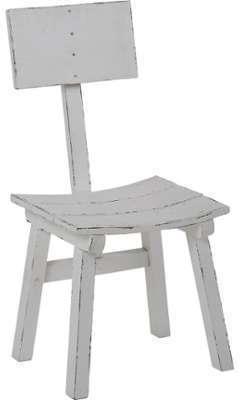Chaise en bois vieilli style