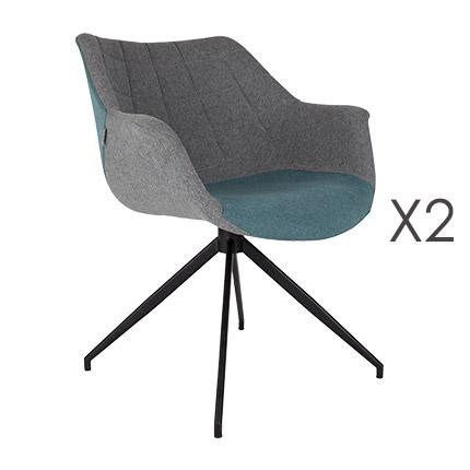 Lot de 2 fauteuils - bleu