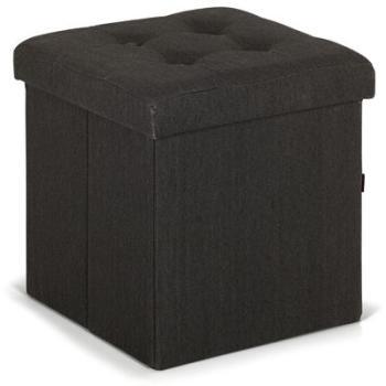 Pouf coffre coloris gris anthracite