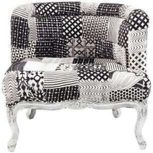 Fauteuil style baroque patchwork
