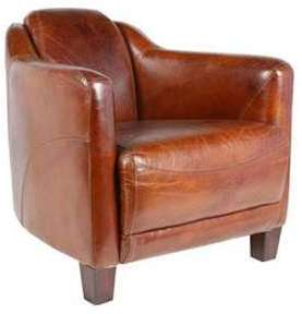 Fauteuil club cigare cuir