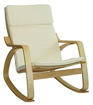 Rocking-chair Bjorn - cru