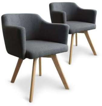 Lot de 2 fauteuils scandinaves