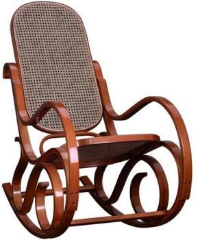 Rocking chair teinté miel