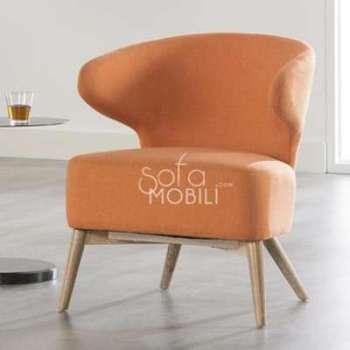 Fauteuil design orange BILBO