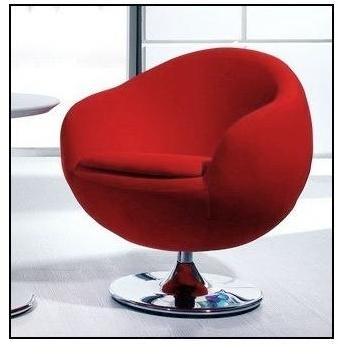 Fauteuil rotatif Ball Rouge
