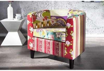 Fauteuil design patchwork