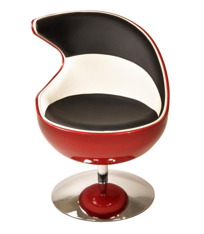 Fauteuil design rétro rouge