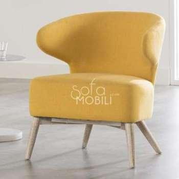 Fauteuil design moutarde BILBO