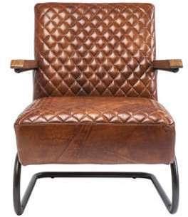 Fauteuil design en acier cuir