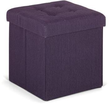 Pouf coffre violet pliable