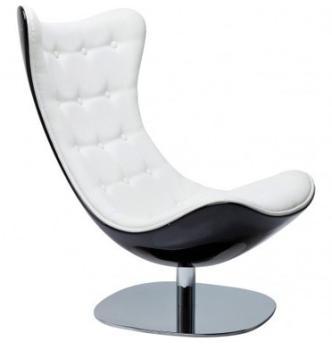 Fauteuil design pivotant noir