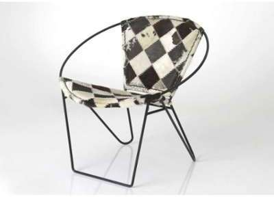 Fauteuil design rond en cuir