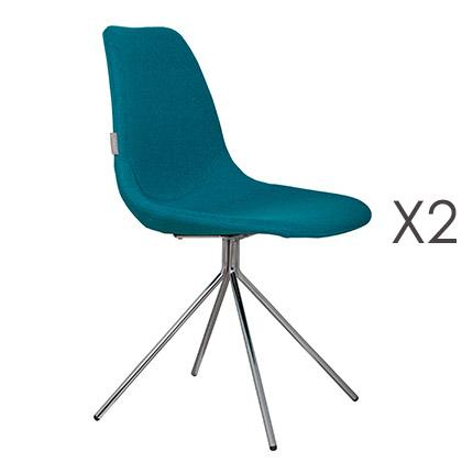 Lot de 2 fauteuils en tissu