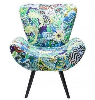 Fauteuil design fleuris Tropical